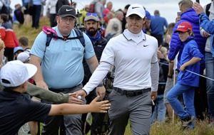 Padraig Harrington shares Scottish Open lead as Rory McIlroy misses cut
