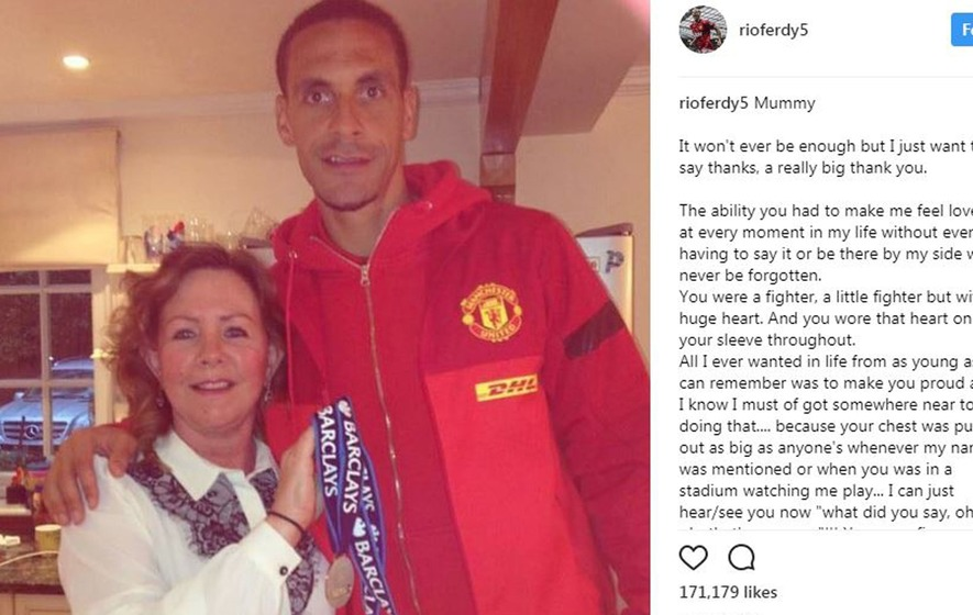 Rio Ferdinand leaves heartbreaking tribute after mother dies from cancer