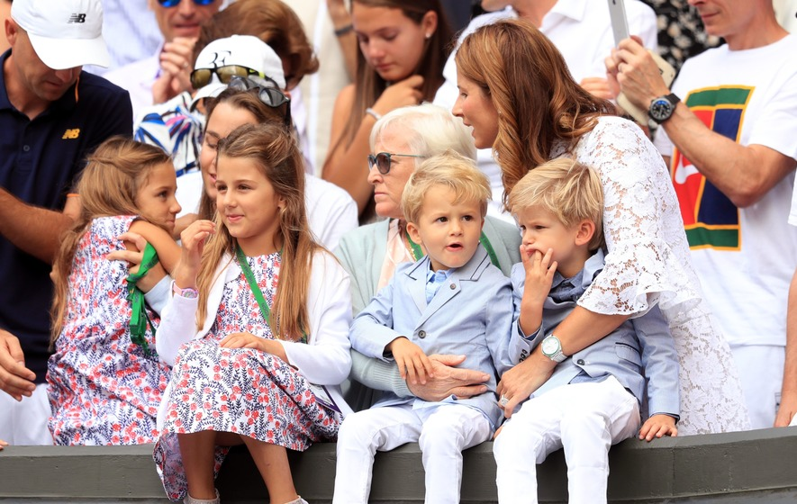 Everybody freaked out when they saw how cute Roger Federer's kids are