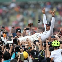Lewis Hamilton crowd-surfed like a total pro at the British Grand Prix