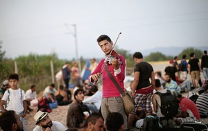 Syrian violinist Rami Basisah believes that 'music can bring peace anywhere'