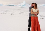 Two polar field guides have become the first to marry on the British Antarctic Territory