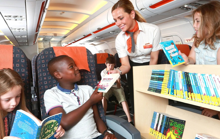 Libraries added to easyJet flights to encourage children to read
