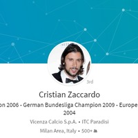 World Cup winner for hire: Cristian Zaccardo is advertising himself on LinkedIn