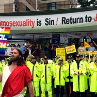 How this Jesus doppelganger used his uncanny looks to send a powerful message at Seoul Pride