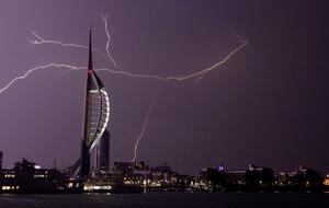 Last night's thunder and lightning had everyone shaken