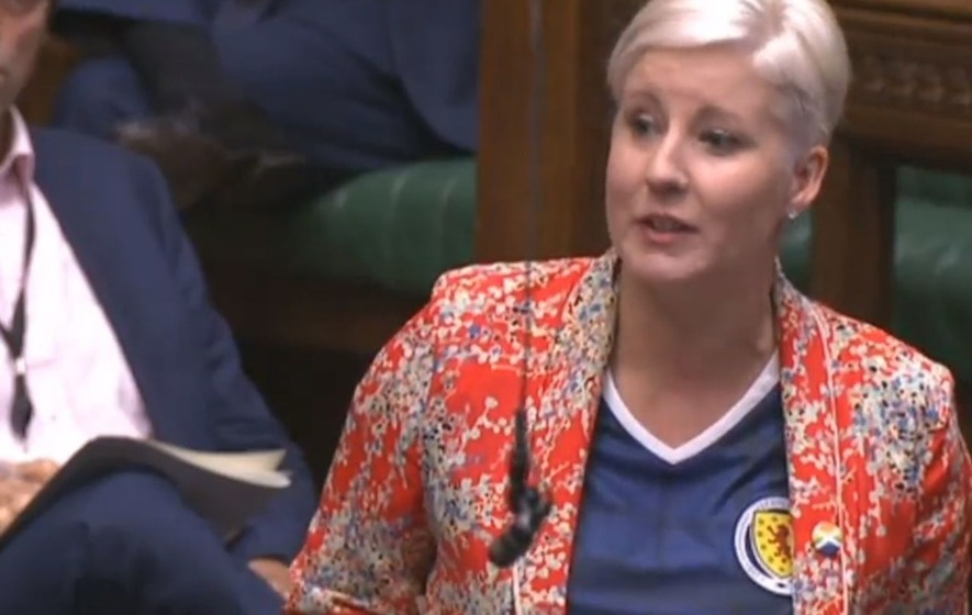 Yes there was an MP wearing a Scotland football top in the House of Commons