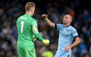 Pablo Zabaleta welcomed former team-mate Joe Hart to West Ham in his own way