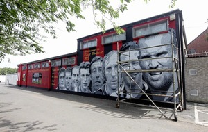 East Belfast UVF mural replaced with images of football stars