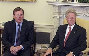 Gerry Adams promised President Clinton he'd ensure David Trimble was 'OK'
