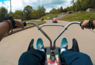 This cart ride down a Canadian mountain is beautifully hypnotic
