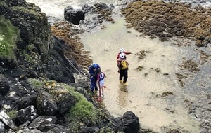 Teenager stranded at bottom of 100ft cliff in Castlerock, Co Derry carried to safety by coastguard