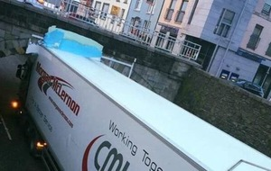 Fourth lorry in a year hits Banbridge bridge