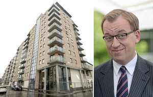 DUP's Christopher Stalford meets residents of bonfire-damaged flats