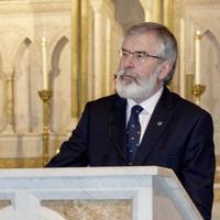 Gerry Adams uses Washington meeting to challenge James Brokenshire on bonfire 'silence'