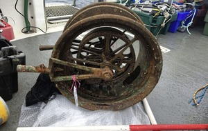 Telegraph machine recovered from wreck of the Lusitania