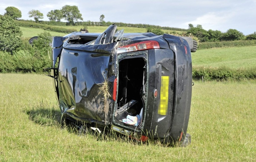 Three escape serious injury after Co Down road crash