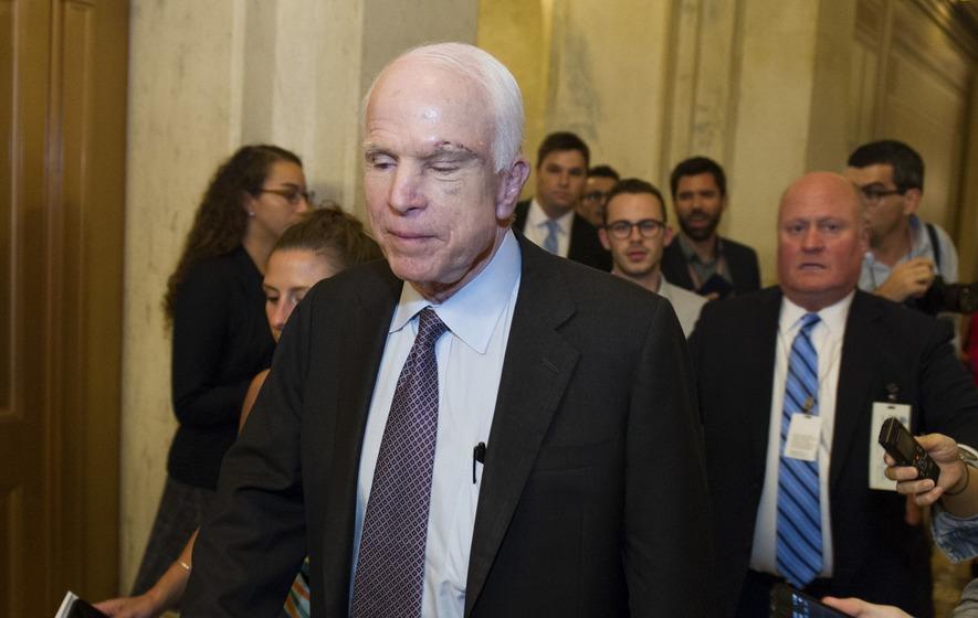 How Senator John McCain stunned Washington with his vote on US healthcare bill amendment