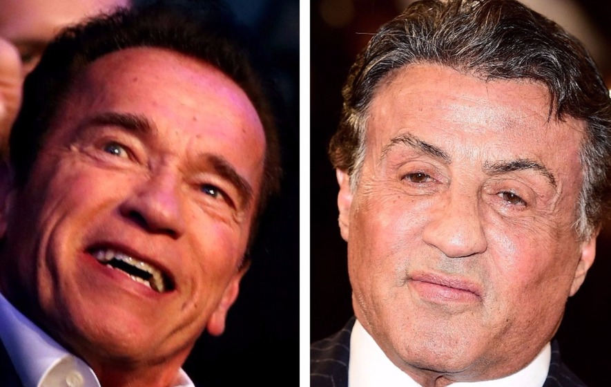 Schwarzenegger and Stallone partied the night away for Arnie's 70th