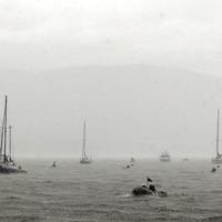 Flotilla on Carlingford Lough in moving tribute to Irish Coastguard crew