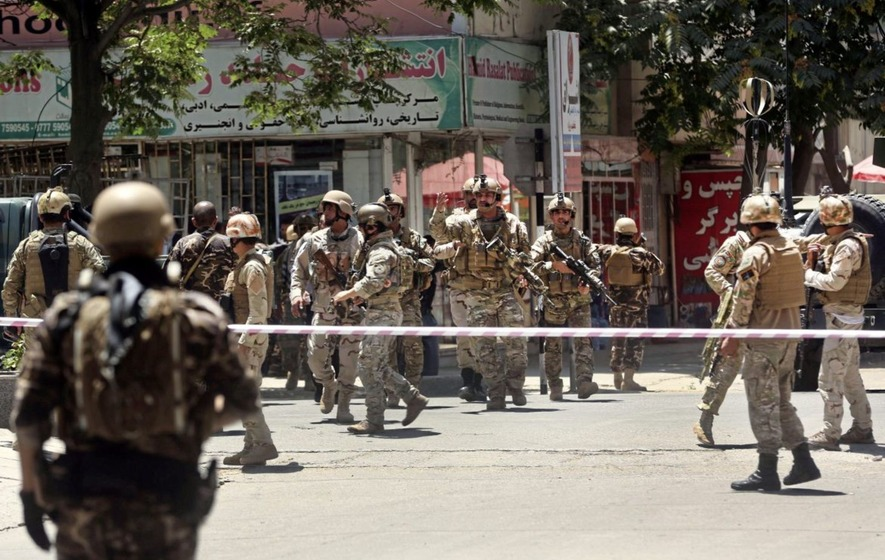 Policemen killed after Islamic State suicide bomber targets Iraqi embassy in Kabul