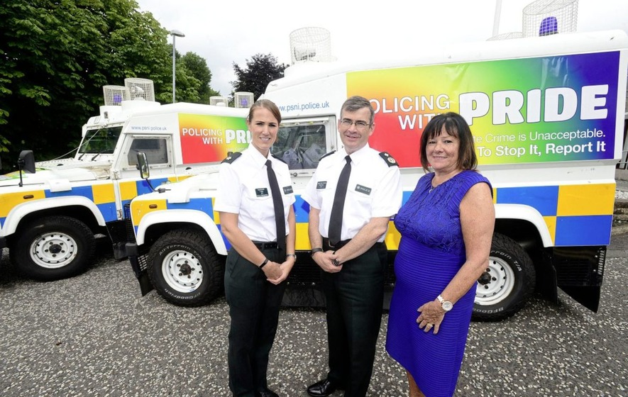 PSNI officers and gardai take part in Belfast's Pride parade
