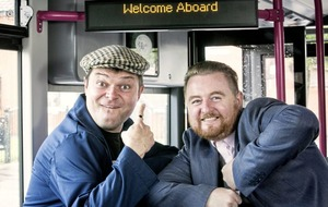 Double-ding: Paddy McDonnell hosts East West Bus Tour