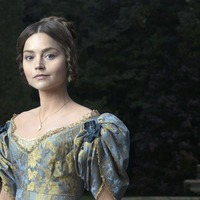 Jenna Coleman brings grandfather to work for Victoria