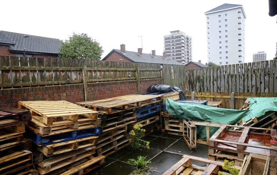Woman says pallets at home near Belfast bonfire site are 'for decking'