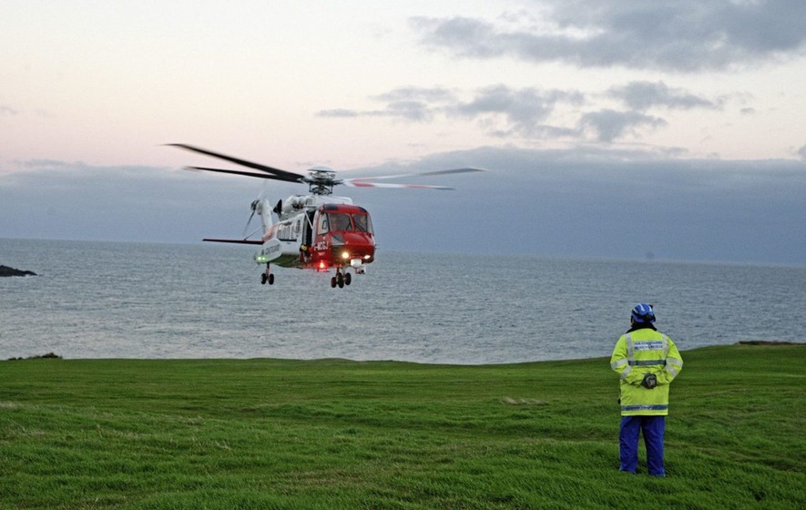 Three children rescued after being washed out to sea