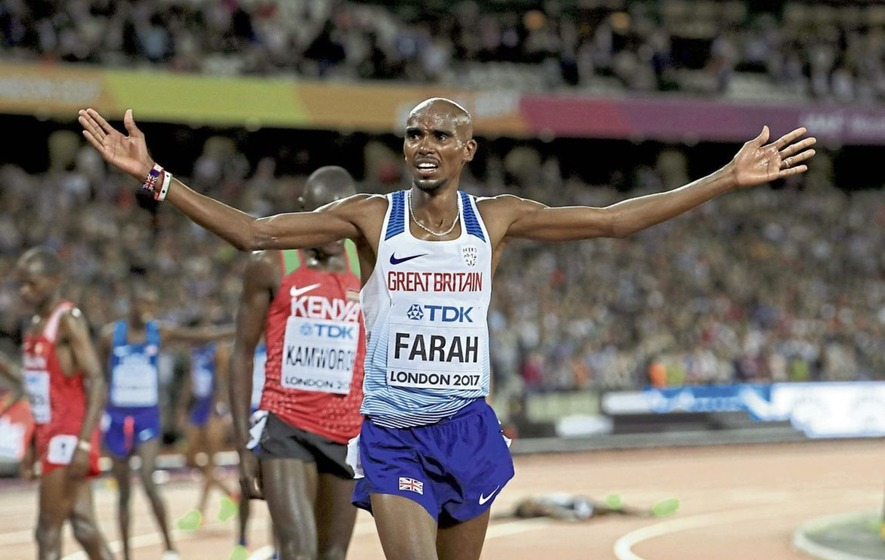 Mo Farah wins his last 10000 metres Gold