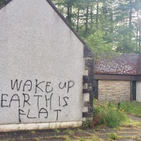 Graffiti claiming the world is flat has appeared in Inverness and everyone is a bit confused