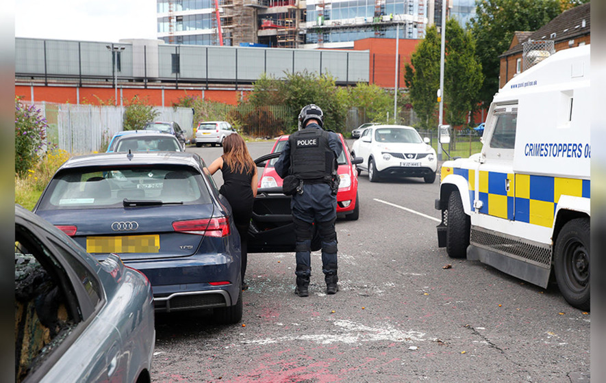 Youths attack police and cars in Belfast's Markets