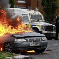 Video: Police increase patrols after building and cars torched following removal of bonfire material