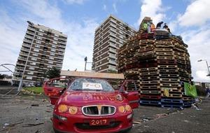 Anti-internment bonfires lit amid extra police patrols