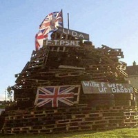Police investigate bonfire poster referencing murdered father of Willie Frazer