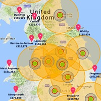 An estate agent has drawn up a map showing the best places to avoid nuclear fallout
