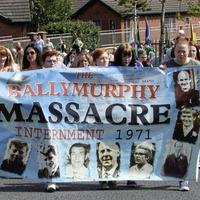 Hundreds join march in support of Ballymurphy victims