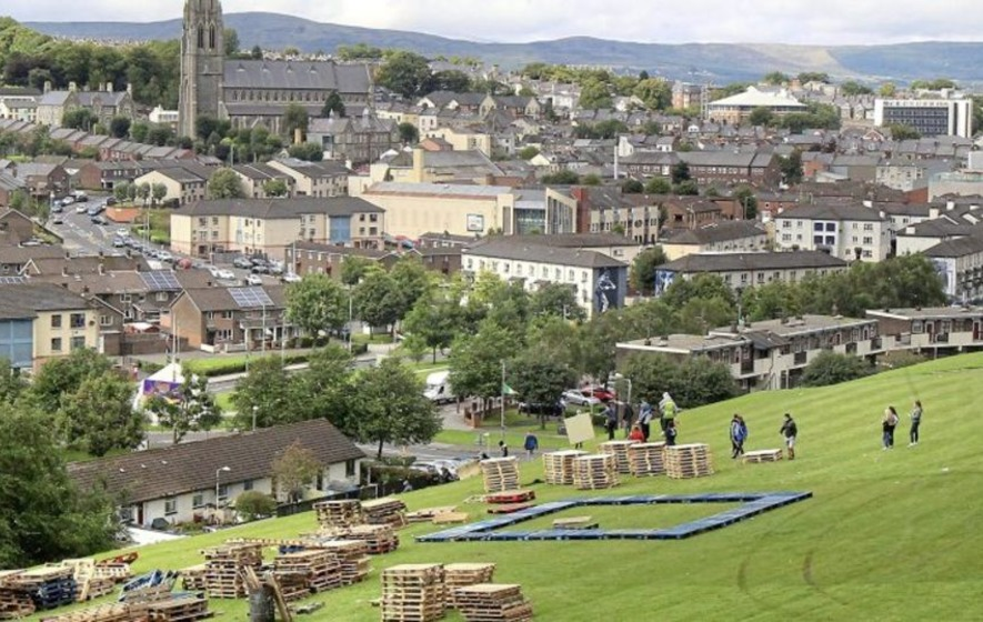 Police and public attacked near Londonderry bonfire