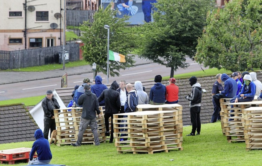 Petrol bombs fired at police at Derry bonfire site