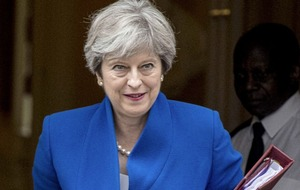 Theresa May will explore potential for post-Brexit peace funds targeting north