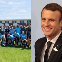 Emmanuel Macron having a kickabout with Marseille is the coolest thing a world leader did this week