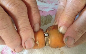 This woman's diamond engagement ring was found on a carrot after going missing 13 years ago