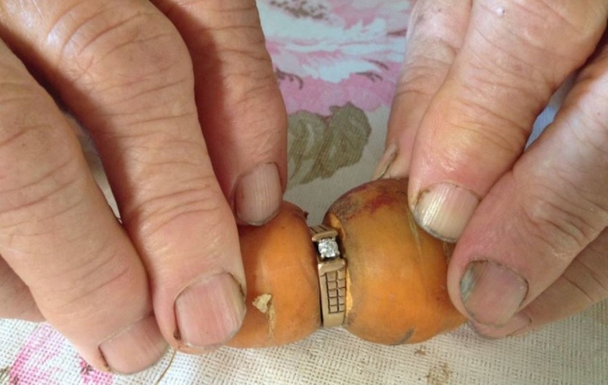 One 'carrot' diamond: Woman's long-lost engagement ring found