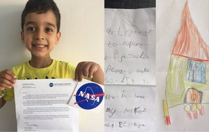 This five-year-old sent a rocket design to Nasa and got an inspirational reply