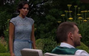 Emmerdale's Fiona Wade says her and Anthony Quinlan's passionate kiss scene was 'hot'