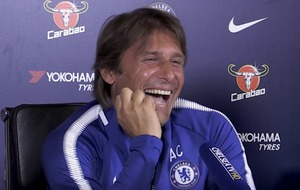 Antonio Conte literally laughed off Diego Costa's midweek comments in his press conference