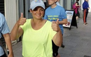 Mrs Brown's Boys cast member Fiona O'Carroll leads Billy's World charity walk across border