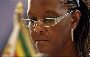 Zimbabwe's first lady Grace Mugabe returns home from South Africa after assault claims