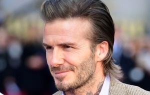 David Beckham in New York with son Brooklyn as he prepares to start university
